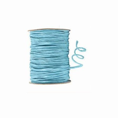 Ribbon - Wired Paper Chord - Light Blue