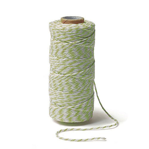 Grass Green Striped Cotton Baker's Twine