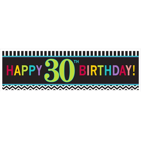Giant Sign Chevron 30th Birthday Banner - 1.65m