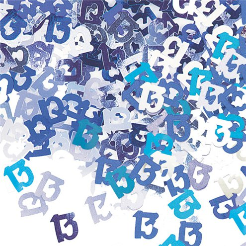 18th Birthday Blue Table/Invite Confetti