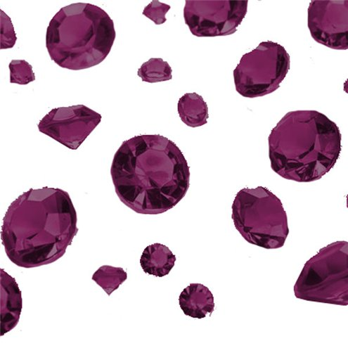 Burgundy Gem Table Diamantes - Assorted
