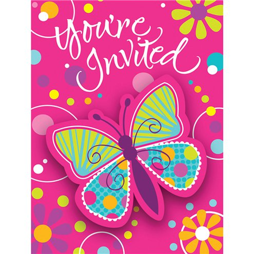Butterfly Sparkle Invitation