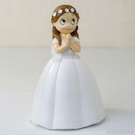 Communion Girl Long Dress Cake Topper