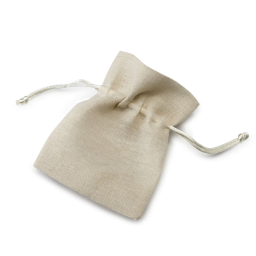 Medium Cotton Bag 10x12.5cm - Ivory
