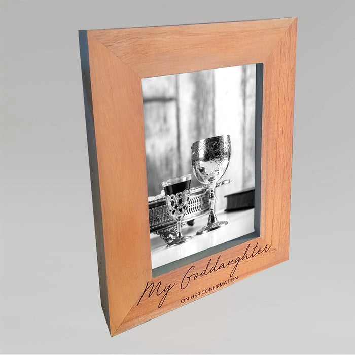 Goddaughter Wooden Photo Frame With Grey Edges