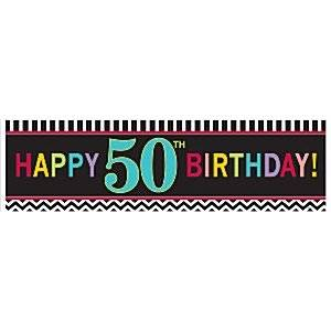 Age 50 Birthday Giant Deep Banner - 1.7m x 0.5m