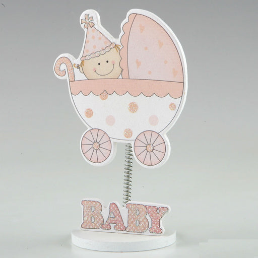 Photo Holder Baby Pink Carriage 7.5x12cm