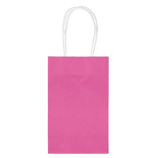 Small Paper Bag with Handles - Fuchsia - 10pk