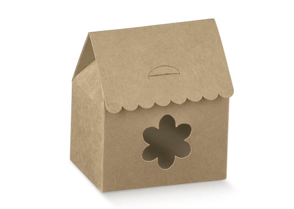 Box w/ Flower Window- Kraft 60X40X70mm