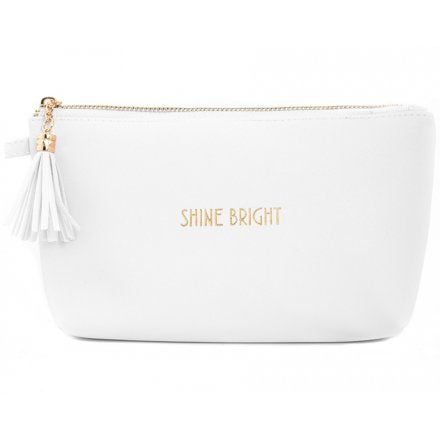 Shine Bright - Cosmetic Bag - White