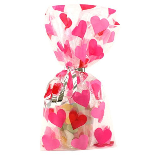 Heart Cello Party Bags - 20pk