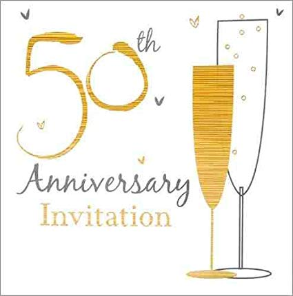 Invitation Fill-in - 50th Anniversary 6pk