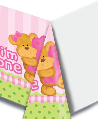 Bears First Birthday Girl Tablecover