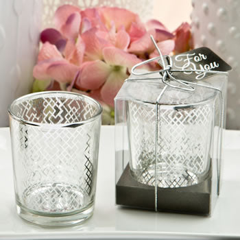 DC Stunning Silver Mercury Candle