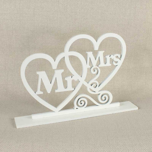 Mr & Mrs Standing Wooden Sign