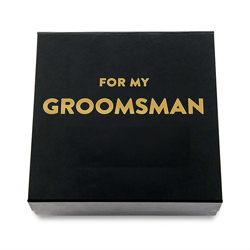 Premium Gift Box - For my Groomsman In Metallic Gold