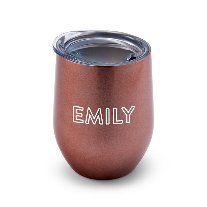 Personalised Stemless Travel Tumbler - Line Monogram Printing