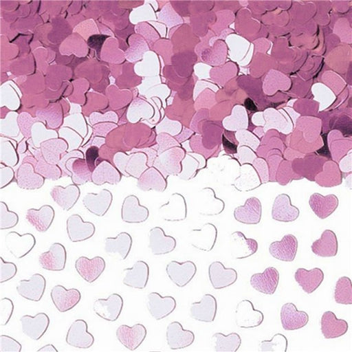 Table / Invites Confetti - Metallic Pink Hearts - 14G