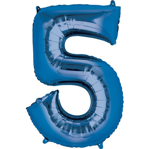 Balloon Foil Number - 5 Blue - 16""