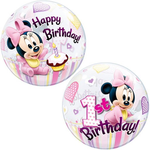 Minnie 1st Birthday Bubble Balloon