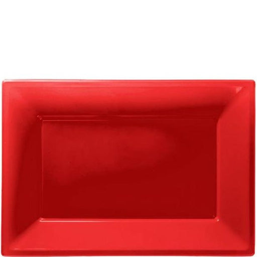 Serving Platters - Red - 3pk