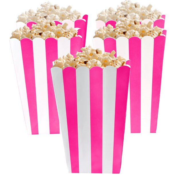Candy Buffet Popcorn Boxes - Bright Pink