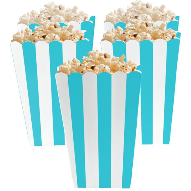 Candy Buffet Popcorn Boxes - Robins Egg Blue