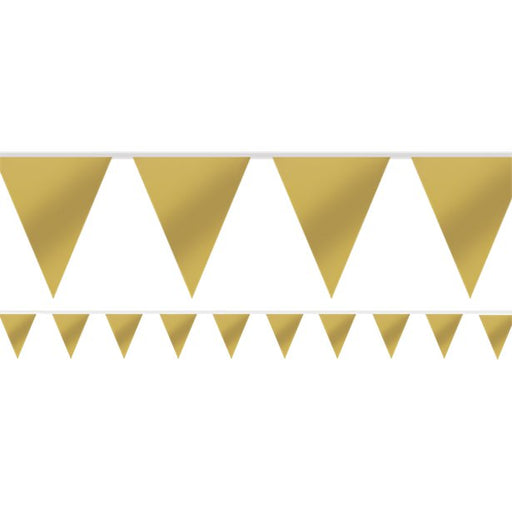 Bunting Paper - Gold  - 4.5m