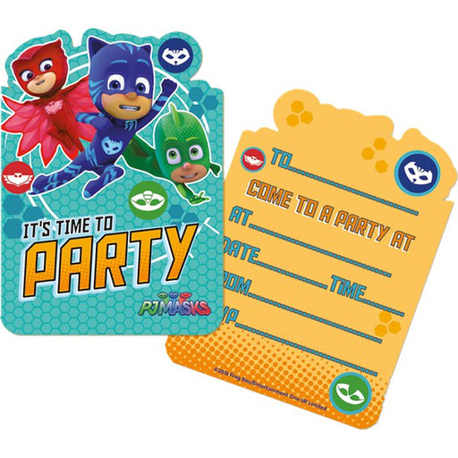 Invitations Fill-in - PJ Masks 6pk