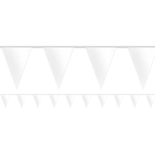Bunting Paper - White - 4.5m