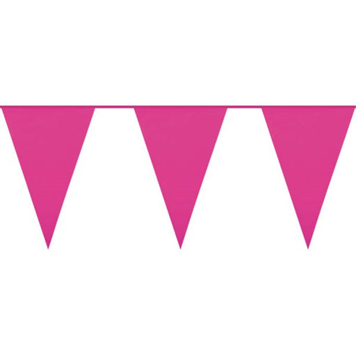 Bunting Plastic - Hot Pink - 10m