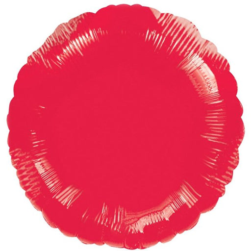 Foil Balloons Metallic Red Round Balloon - 18'' Foil
