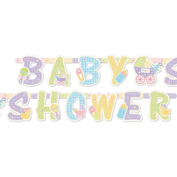 Baby Shower Jointed Letter Banner - 1.9m