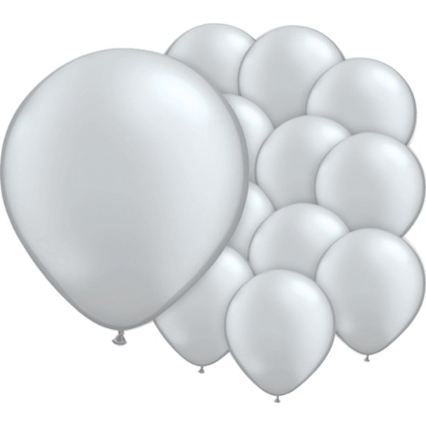 Balloon Latex Pearl - Shimmering Silver 5''