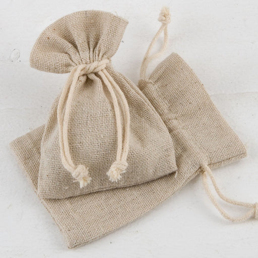Cotton Bag - Beige - 7.5x10cm