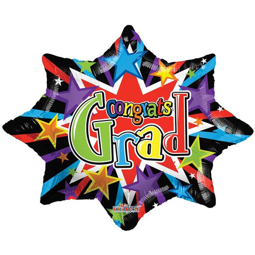 Balloon Foil Star Shaped - Colourful Burst Graduatuion - 28''
