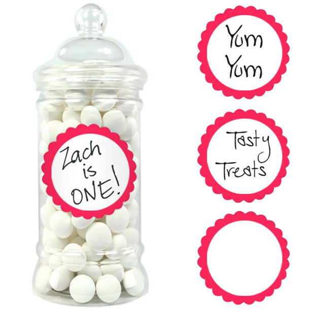 Candy Buffet Labels - Apple Red - 20pk