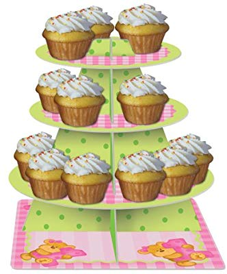 Bears First Birthday Tiered Server Cupcake Stand Girl