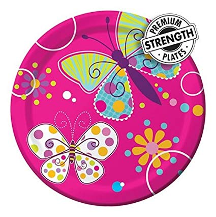 Butterfly Sparkle Foil Plate