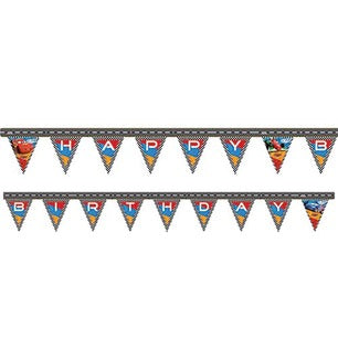 Cars Happy Birthday Banner
