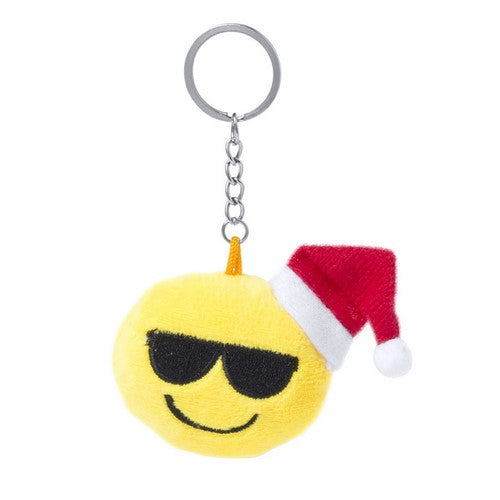 Smiley Santa Keychain with Sunglasses
