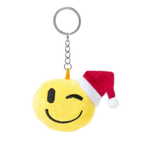Smiley Santa Keychain Wink
