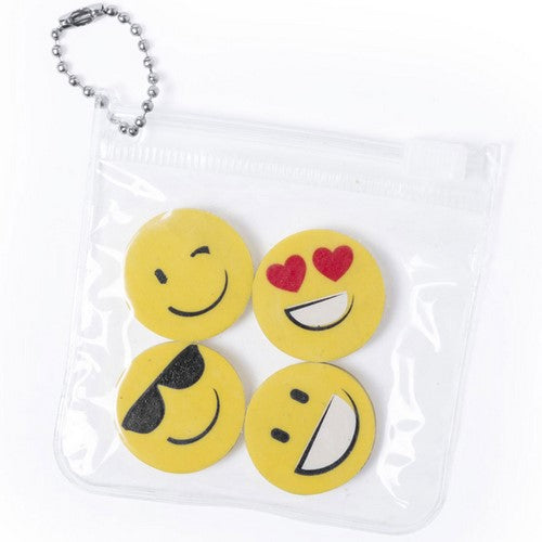 Smiley Eraser Set