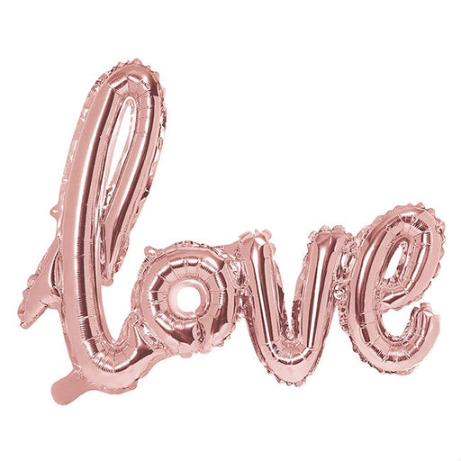 Phrase Foil Balloon - Love Rose Gold - 29 x 23''