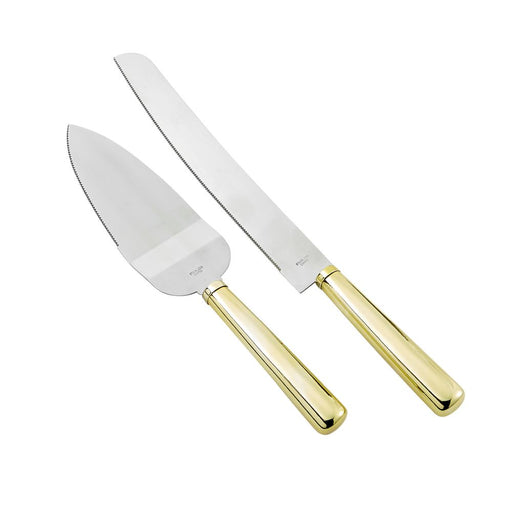 Gold Elegance Knife & Server Set