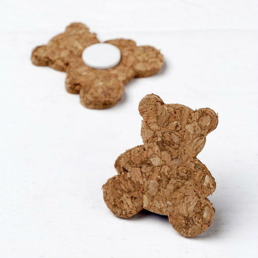 Cork Bear Adhesive Embellishment
