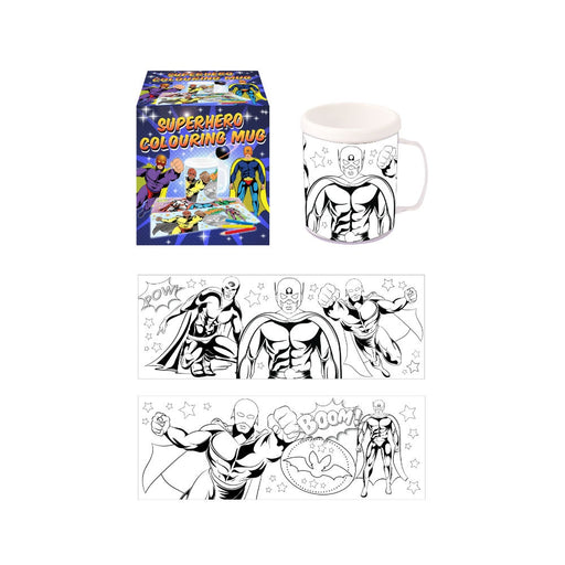 Colouring Mug - Superhero Theme