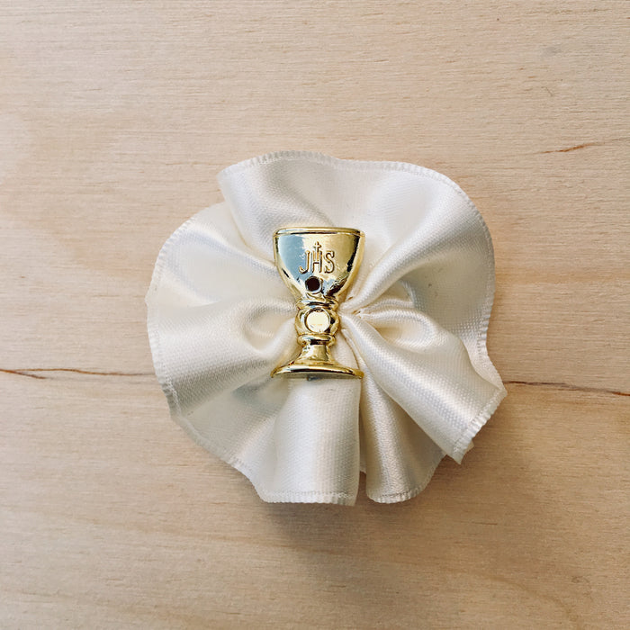 Domna for Boys - Ivory with Gold Chalice