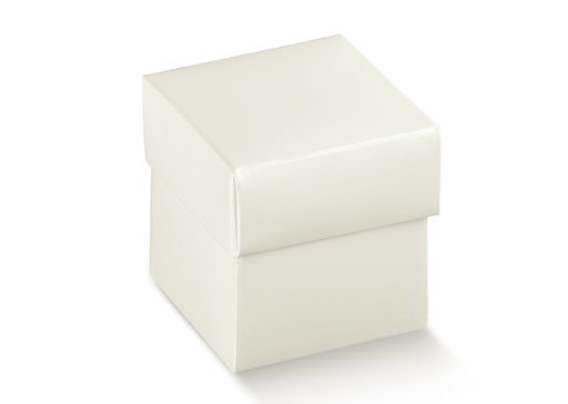 Box w/Lid - White - 50X50X50mm