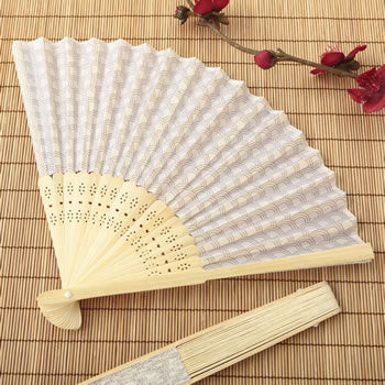 Fabric Fan With Scalloped Design